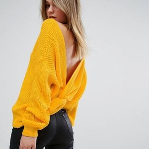 Twist Back Oversized Sweater